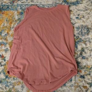 Lululemon tan/pink high neck tank top